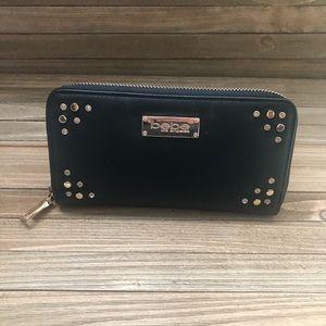NWT Black Bebe zip around Wallet